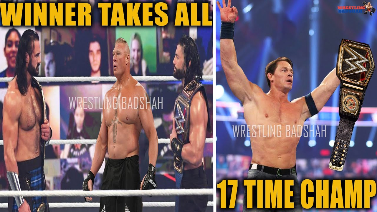 Roman Reigns vs Brock Lesnar vs Drew McIntyre - Winner Takes All Match?! John Cena 17 Time Champion?