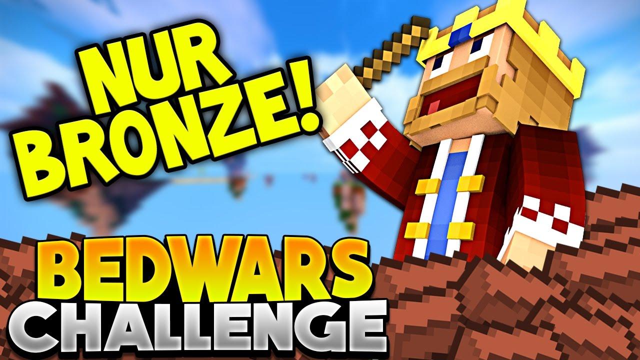 Nur Mit Bronze Spielen Minecraft Bedwars Challenge Youtube