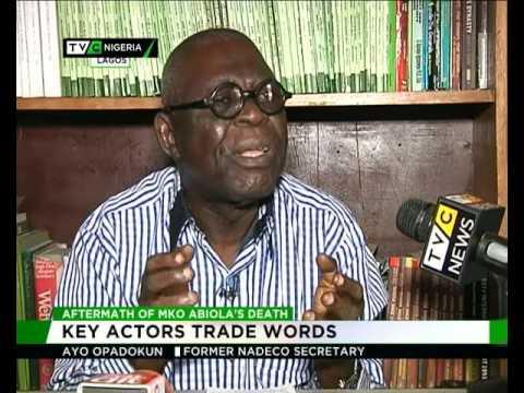 Aftermath of MKO Abiola's death : Key actors trade words
