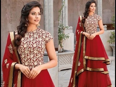 hair style for long dress best trendy amp easy hairstyle ideas for anarkali suit 4513 | hqdefault