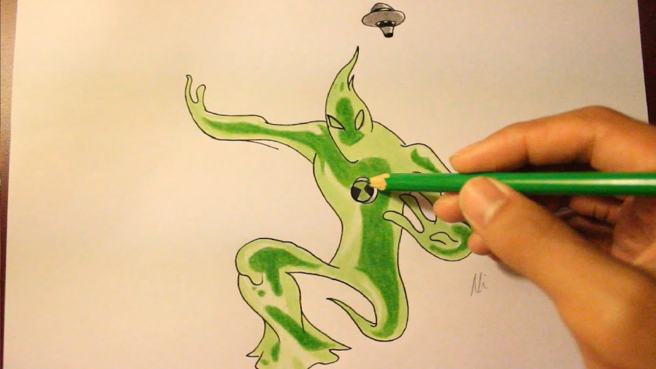 how to draw goop from ben 10 ultimate aliens youtube