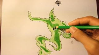 How To Draw Goop From  Ben 10 Ultimate Aliens