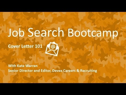Webinar: Cover letters 101 | Devex