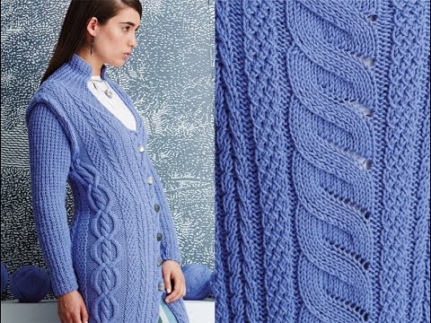 5 Long Cabled Coat Vogue Knitting Fall 2014 Youtube