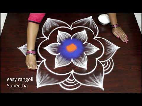 Cute Rangoli Arts Designs By Suneetha ||new Sankranthi Kolam ||easy N Simple Pongal Muggulu