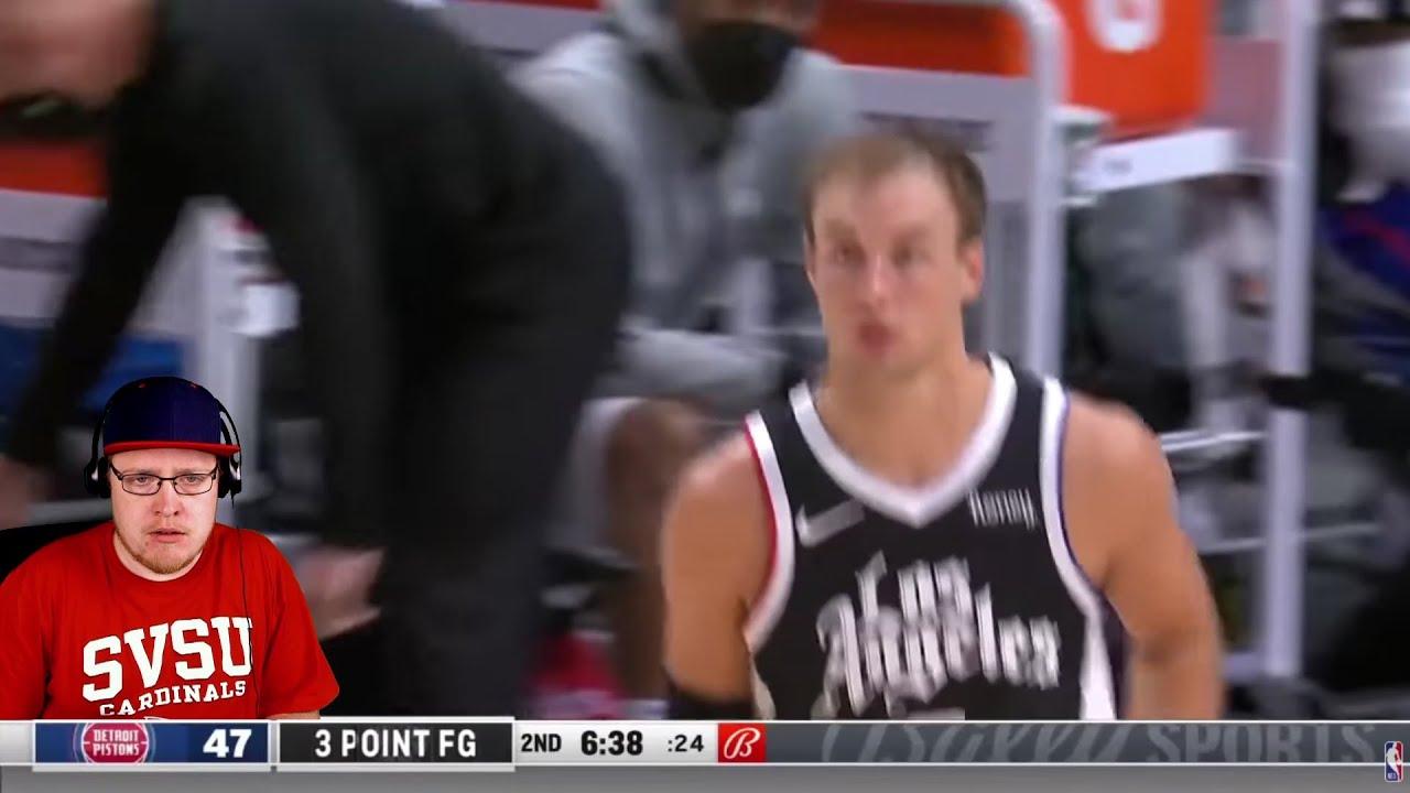 Reacting To Luke Kennard Revenge Game Vs The Detroit Pistons...