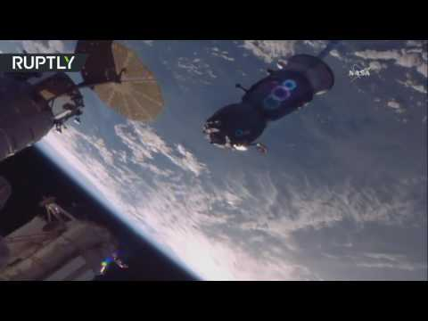 Отстыковка пилотируемого корабля «Союз МС» от МКС