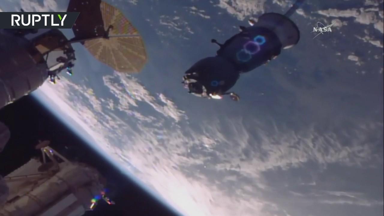 Отстыковка корабля «Союз МС-03» от МКС и возвращение экипажа на Землю