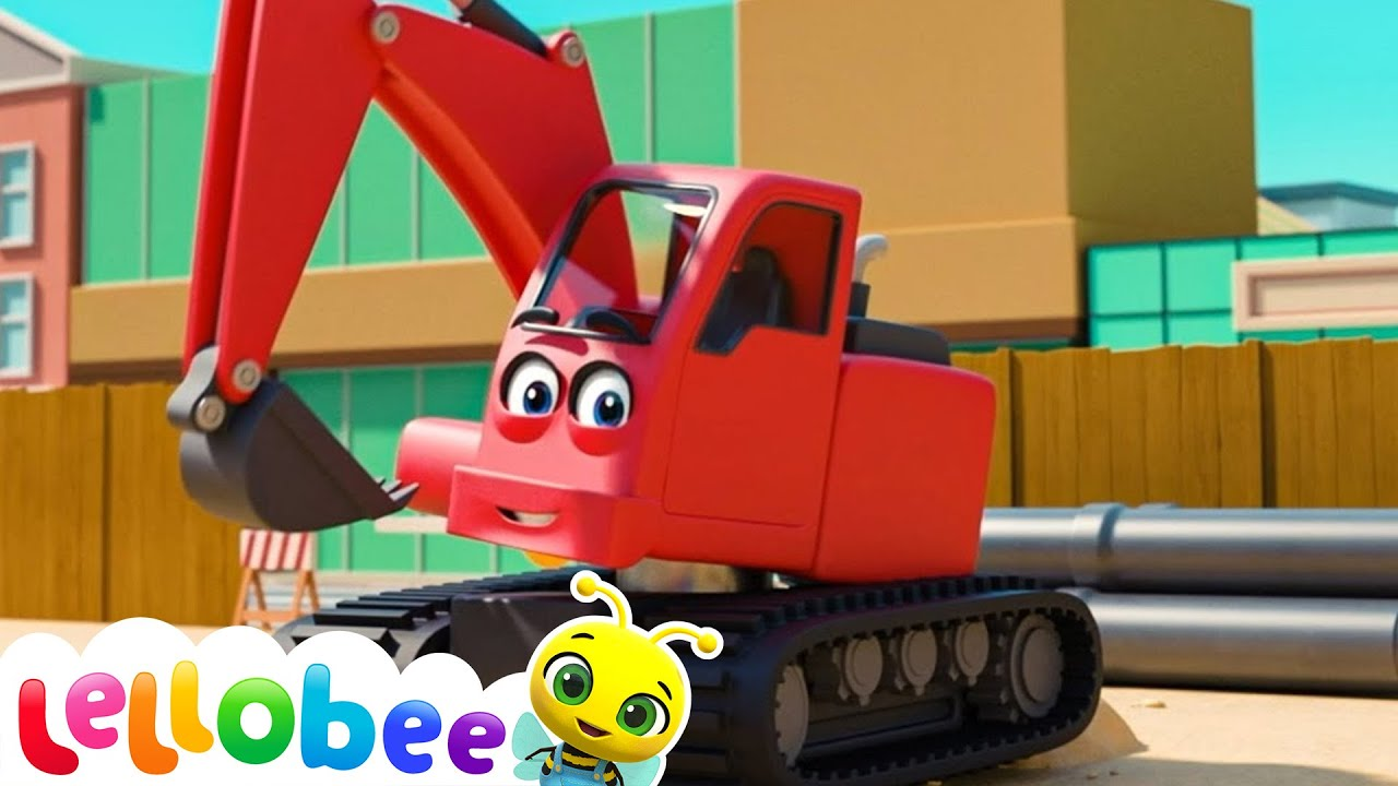 Building Site - Construction Vehicles for Kids | BRAND NEW! | Nursery Rhymes | Little Baby Bum