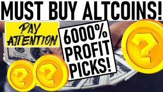 6000% PROFIT ALTCOIN PICKS! INSANE ALTCOIN SPRING COMING! SOON: PARABOLIC UPSIDE FOR THESE ALTCOINS!