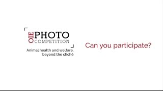 Who can participate in the OIE Photo Competition 2017