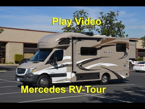 2014-2015 C-class Mercedes Benz Turbo Diesel RV Tour Thor Siesta 24sr Review Video & Test Drive Blog