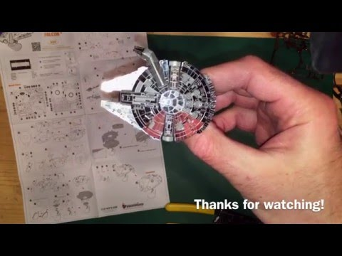 Metal Earth 3D Metal Model Kits Millennium Falcon Kit Build