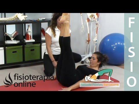 Ejercicio de Pilates - Tijeras