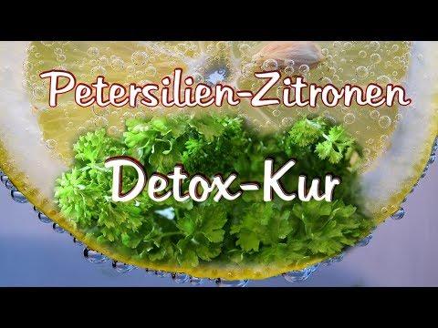 Petersilienessig und Zitrone zum Abnehmen