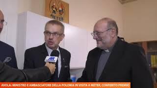 10 ottobre 2019. Visita del ministro polacco Mikolaj Pawlak e ambasciatore  Janusz Kotanski.