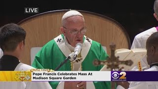 Pope Francis Celebrates Mass At MSG