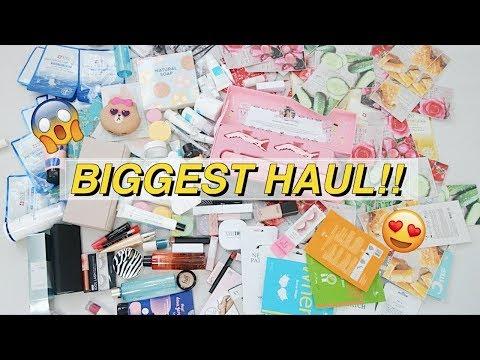BIGGEST KOREAN MAKEUP HAUL EVER 😍 | ENG SUB!