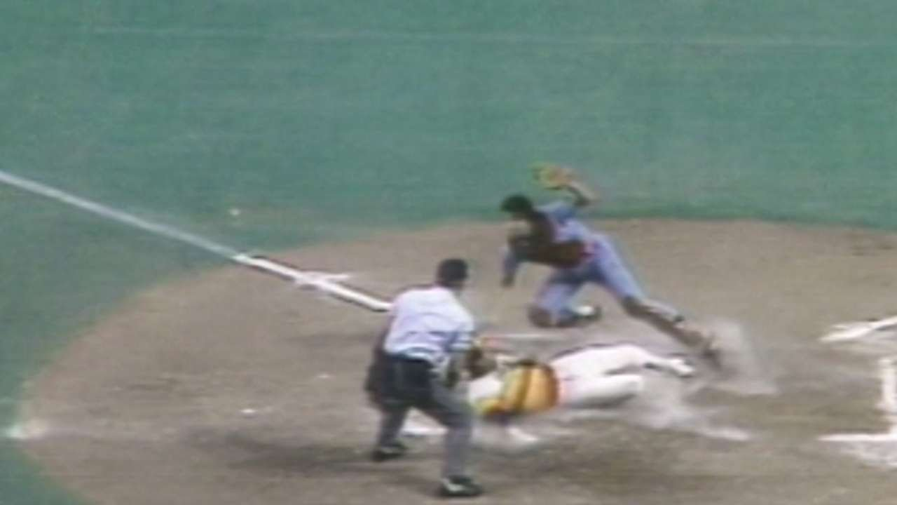 1980 NLCS Gm5 Trillos Relay Throw Gets Out At Home