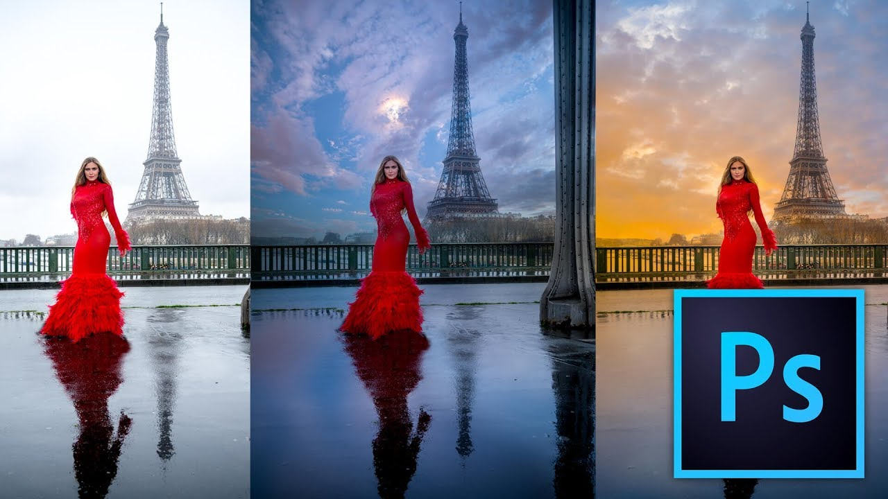 How to Easily and Quickly change a Sky in Photoshop CC 2017 Tutorial