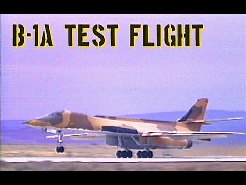 B-1A Test Flight at Edwards AFB