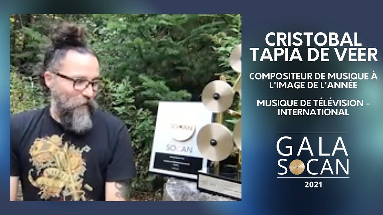 Gala SOCAN 2021 - Cristobal Tapia De Veer - Compositeur de musique à l'image de l'année - YouTube