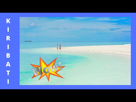 The spectacular LAGOON of KIRIBATI (TARAWA ATOLL) at low tide (SHORT CLIP)