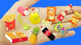 10  DIY MINIATURE FOOD REALISTIC AND DRINKS HACKS AND CRAFTS !!