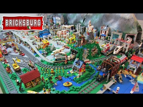 Bricksburg: Lego Town City Diorama - Layout 2016