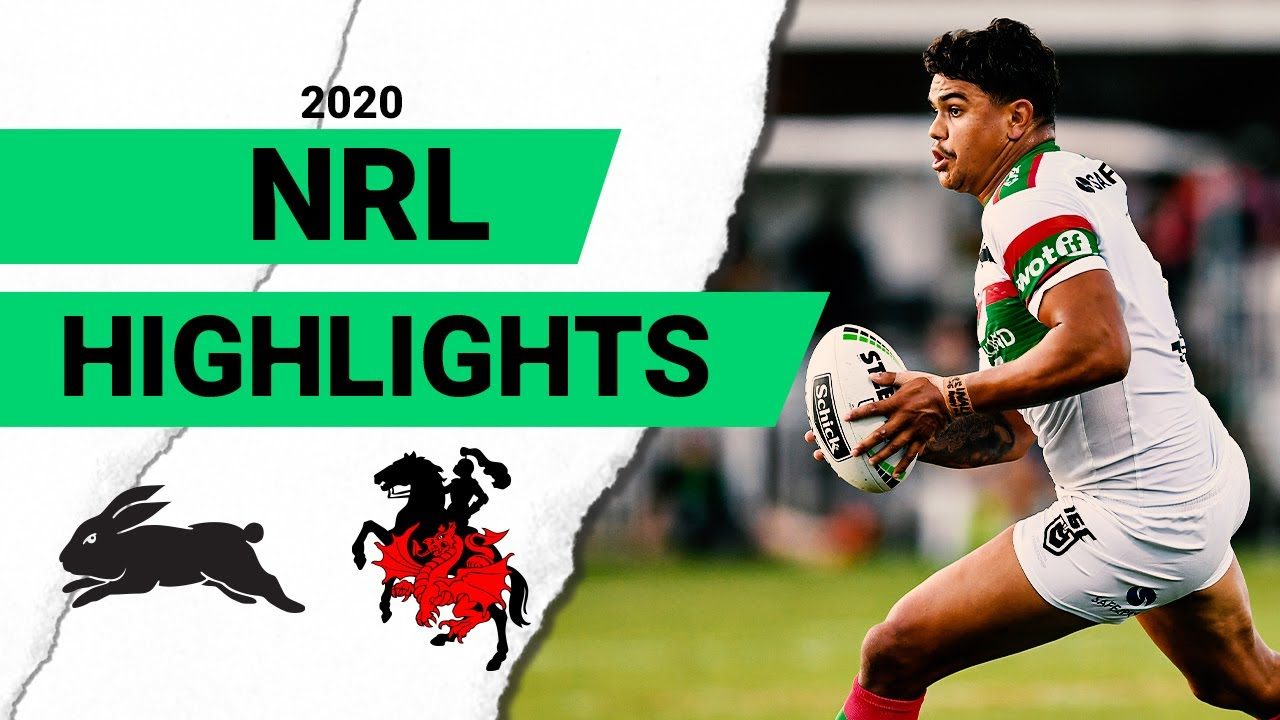 2020 Charity Shield Highlights Rabbitohs V Dragons Youtube