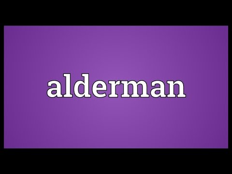 Alderman Meaning