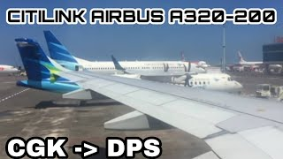 FULL PANTUN~Citilink Airbus A320-200~From Jakarta (CGK) to Bali (DPS)~Flight Experince