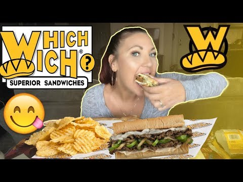 MUKBANG WHICH WICH BLACK BEAN & PHILLY CHEESESTEAK! COLLAB WITH RDR FOOD REVIEWS *BURPING* VEGAN