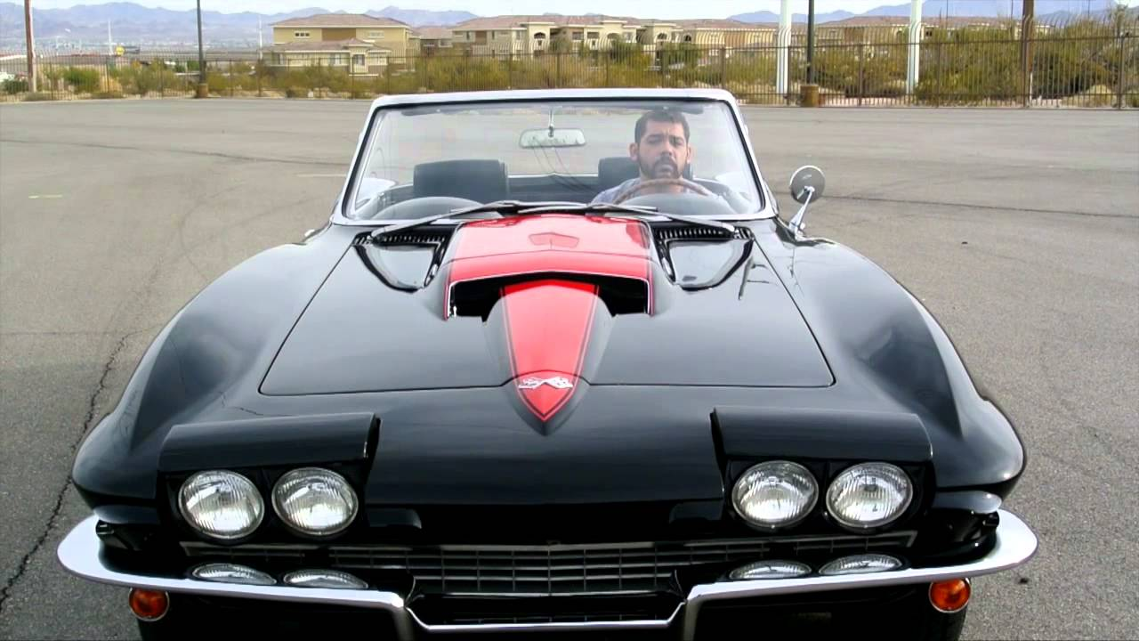 1967 Corvette Roadster Black 427 435 Hp Frame Off