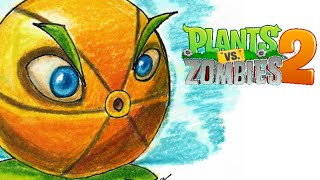 Pomelo (Plantas contra zombies 2) Speed drawing | Víctor González