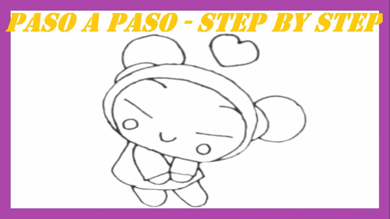 Como dibujar a Pucca l How to draw Pucca - YouTube