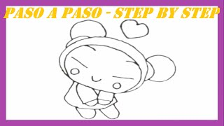 Como dibujar a Pucca l How to draw Pucca