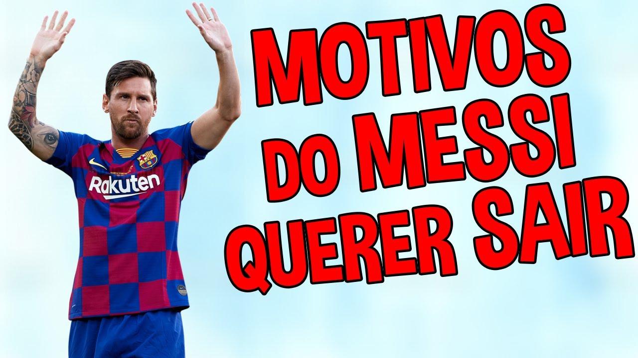 Veja os MOTIVOS do MESSI querer SAIR do BARCELONA!!