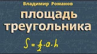ПЛОЩАДЬ ТРЕУГОЛЬНИКА доказательство теоремы 9 класс