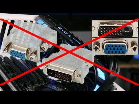 Почему нельзя подключить в DVI-D порт видеокарты переходник на VGA???