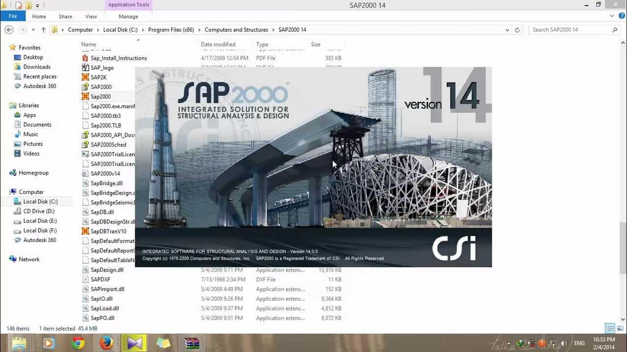 logiciel sap2000 v14 gratuit