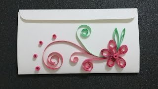 Paper quilling flower card (basic and for beginner)