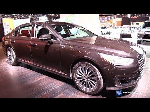 2018 Genesis G90 5.0 Htrac Exterior and Interior Walkaround 2018 Chicago Auto Show