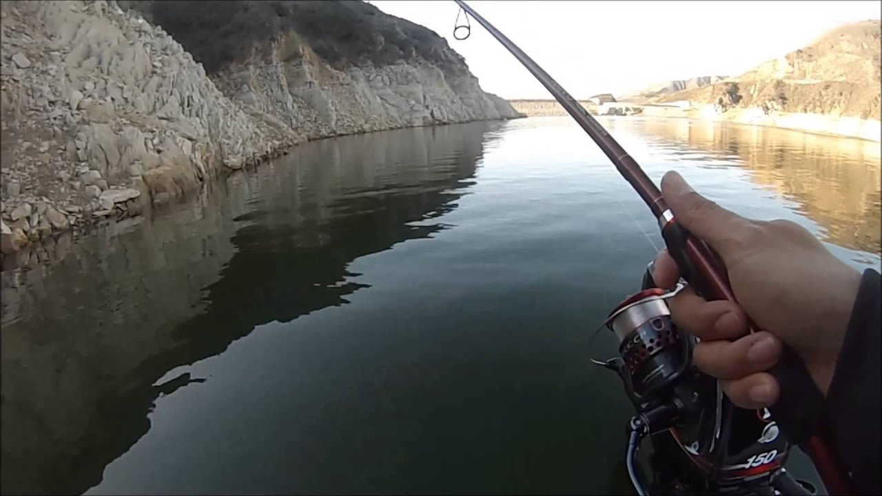 First time out at lake piru youtube for Lake piru fishing report
