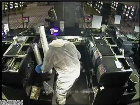 Armed Casino Heist  security footage     Marseille, France [