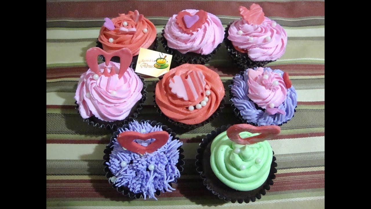 Ideas Para Decorar Cupcakes Para El Dia De San Valentin Parte 3/3   La  Receta De La Abuelita   YouTube