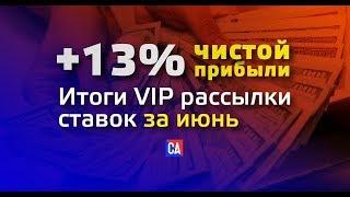 ЗАРАБОТОК НА СТАВКАХ | 13% ПРИБЫЛИ ЗА ИЮНЬ В VIP ГРУППЕ СПОРТ АНАЛИЗА