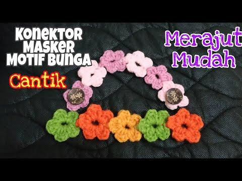cara-membuat-konektor-masker-motif-bunga