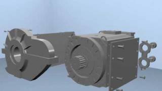 traction motor machine animation