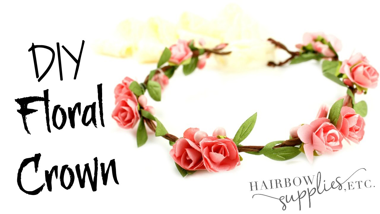 Floral Crown Tutorial Baby Flower Crown Hairbow Supplies Etc